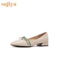 【秒杀价:179元】SAFIYA/索菲娅优雅方头浅口低跟女鞋SF01111070