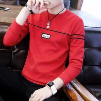 2018秋装新款男士T恤长袖薄款秋衣潮流外穿衣服韩版学生秋季卫衣