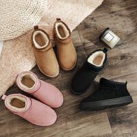 秋冬季女鞋中筒雪地靴棉鞋短靴女春短筒女靴鞋子加绒靴子