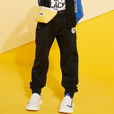 【2件3折到手价:53.4】小猪班纳童装男童长裤2019春装新款中大童休闲裤儿童纯棉针织裤子