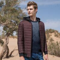 骆驼男装男士带帽可拆卸棉衣年冬季新款休闲棉服舒适保暖外套