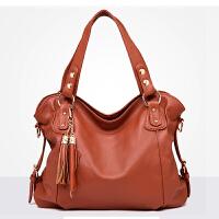 新款女包大包包中老年大容量单肩手提斜挎包中年女士妈妈软皮