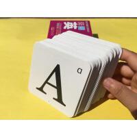26个英文英语字母学习卡片宝宝认识字母教具闪卡ABCabc大小写儿童英语单词片英文语启蒙字母卡金牌儿童学前教育丛书英语