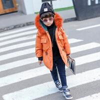 童装男童装棉衣加厚2017新款潮宝宝中长款棉袄儿童外套羽绒