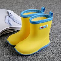 儿童雨鞋男女童防滑底宝宝雨鞋幼儿小孩水鞋四季通用防滑雨靴雨鞋 新款黄色 雨鞋