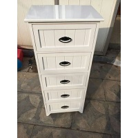 实木多层抽屉式收纳柜三四五斗柜客厅储物柜夹缝柜白色组合柜 1个