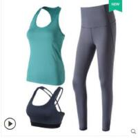 韩系新款运动背心女跑步健身瑜伽服速干透气无袖修身瑜珈套装