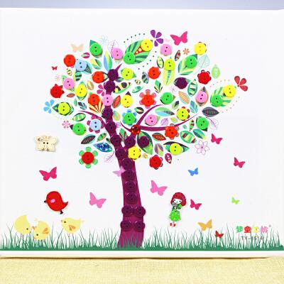 贴纸手工制作 果树