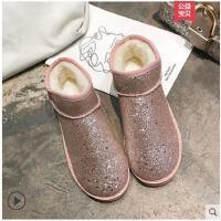 雪地靴女短筒冬季新款韩版百搭学生短靴户外女靴子加绒女棉鞋