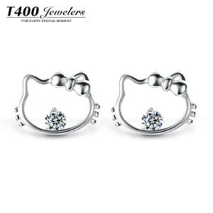 耳钉女气质韩国个性耳环纯银简约猫系少女耳饰品情人节礼物送女友8837