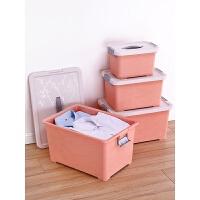 衣服收纳箱塑料整理箱家用儿童玩具收纳盒有盖储物箱子大小号
