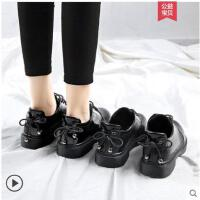 小皮鞋女冬季加绒新款韩版百搭学生原宿英伦风软妹单鞋女鞋子