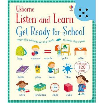 【现货】英文原版 触摸可发声英语单词卡片 Get Ready for School (Listen and Learn) 学龄前儿童低幼启蒙书 国营进口!品质保证!