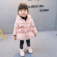 2017新款女宝宝1装羽绒棉衣0外套3岁女童2小童韩版公主棉袄 粉红色