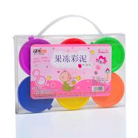 卓峰水晶泥(6色6盒装)ZF9522颜色图案随机安全无毒儿童粘土吹泡泡透明鼻涕泥果冻彩泥玩具当当自营
