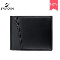 SWAROVSKI/施华洛世奇 时尚男士短款钱包 黑色中号5277342