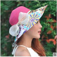 阳帽沙滩帽大沿帽防晒帽户外草帽 帽子女夏天韩版潮遮阳帽可折叠