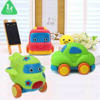 宝乐童益智Q版卡通回力玩具车套装0-3岁飞机甲虫车消防车玩具小车