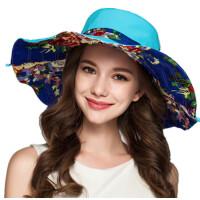 帽子女夏天防晒沙滩帽大檐沿遮阳帽户外防紫外线太阳帽