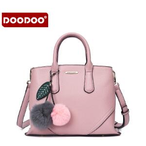 【支持礼品卡】DOODOO 包包2017新款时尚女包手提单肩斜挎包百搭简约秋季同款女士大包 D6101