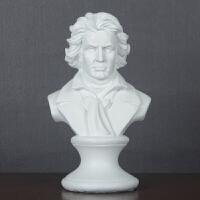 家居饰品欧式创意钢琴装饰品摆件美式音乐家头像小摆设雕塑