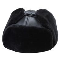 冬季牛皮帽子男雷锋帽 中老年加厚老年人护耳保暖皮帽子