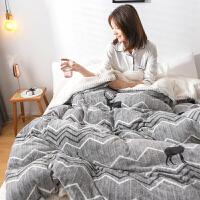 带被套被子冬被棉被加厚保暖棉花被双面绒冬天加绒被芯10斤珊瑚绒