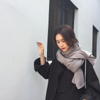 围巾韩版女百搭披肩秋冬季2018新款男士情侣款围脖仿羊绒长款