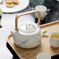 光一家用陶瓷泡茶壶茶具套装中式复古大号简约单壶冷水茶壶耐热大容量
