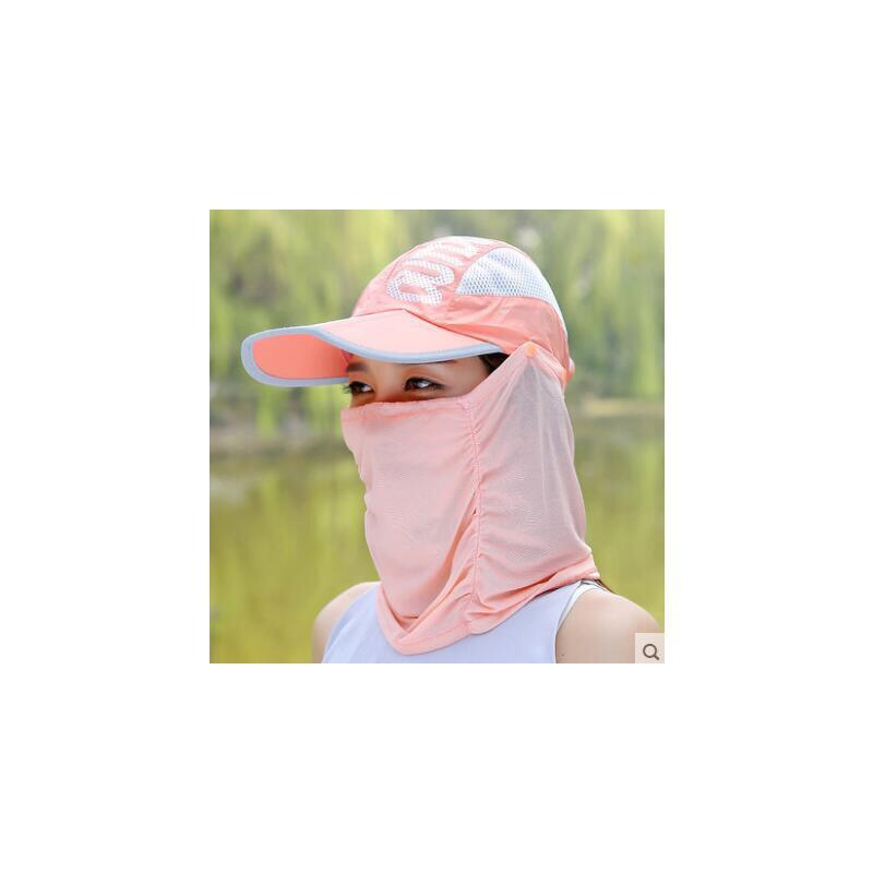 休闲遮阳帽子 女 夏天必备单品 户外骑电动车防晒太阳帽 防紫外线遮脸可折叠鸭舌帽