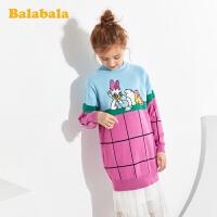 【满减参考价:79.97】【唐老鸭IP款】巴拉巴拉儿童连衣裙女童公主裙春装2020新款大童女