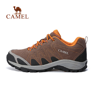 camel骆驼户外情侣款减震徒步鞋 耐磨透气男女户外鞋