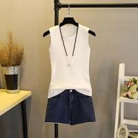 冰丝针织吊带背心无袖女修身2018夏季短款外穿内搭纯色白搭打底衫