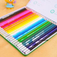 真彩24色水溶性彩色铅笔 铁盒装水彩铅笔 水溶彩铅 4576-24