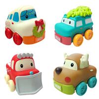 美国infantino宝宝益智卡通软胶小汽车婴儿圣诞玩具套装316356