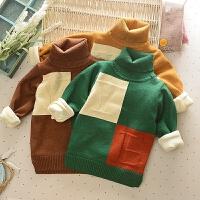 男童毛衣加绒加厚儿童高领装宝宝打底外套小童保暖羊绒衫针织衫
