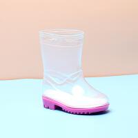 儿童雨鞋男女童防滑轻便四季水鞋水晶套鞋全透明水靴时尚宝宝雨靴