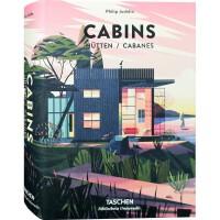 CABINS木屋 32开640页 小型木质房屋建筑设计 木头房子木材建筑木质别墅建筑室内设计书籍