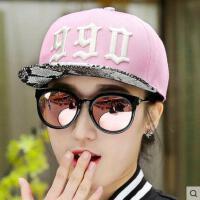 嘻哈帽子女网红同款时尚韩版潮户外街舞棒球帽 花纹皮男士夏天平沿帽户外运动新品