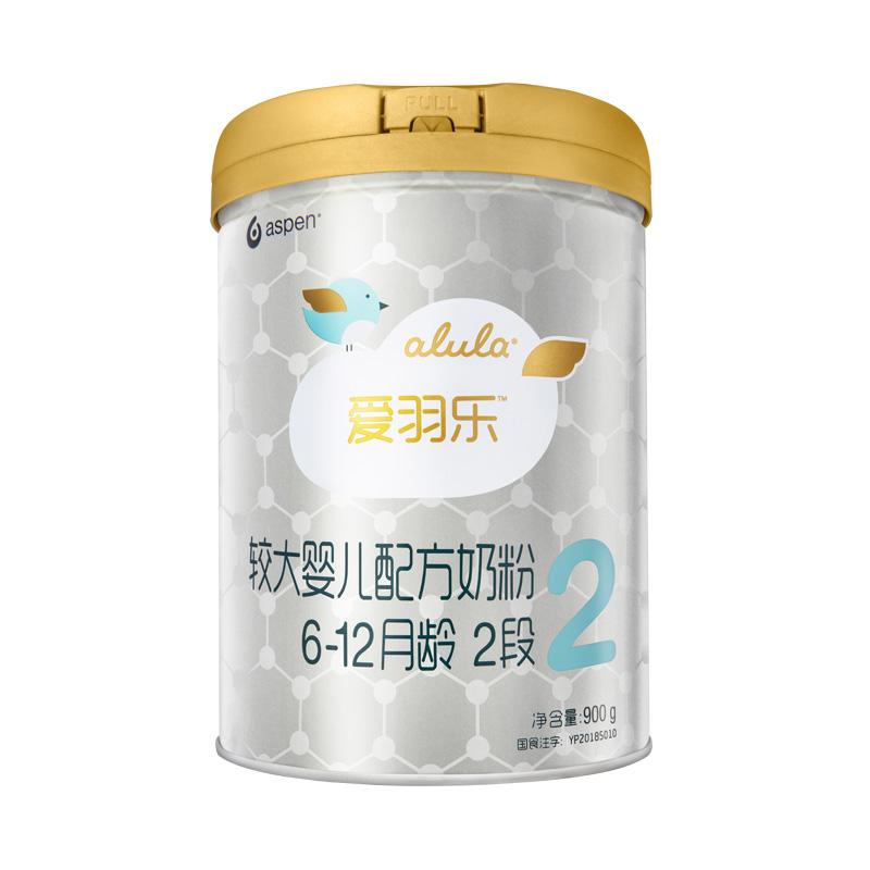 [当当自营]alula爱羽乐2段较大婴儿配方奶粉( 6-12个月)900g臻粹舒养配方,让宝宝自然舒睡自在成长