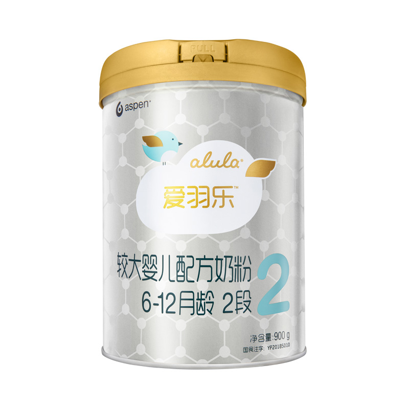 [当当自营]alula爱羽乐2段较大婴儿配方奶粉( 6-12个月)900g买即赠2段400g奶粉一罐