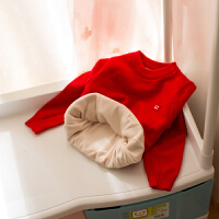 童装男女宝宝毛衣2017韩版婴儿童0-3岁半针织打底线衣衫 春秋 加绒