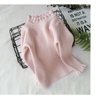 1到2至4岁秋女童3-5周岁针织毛衣黑色高领打底小衫6女宝宝衣服