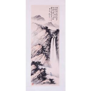 著名国画艺术家、教育家   黄君璧《观瀑图》
