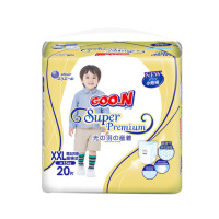 GOO.N大王 短裤式纸尿裤 光羽系列 XXL20片(15kg以上)婴儿男女通用非拉拉裤纸尿裤
