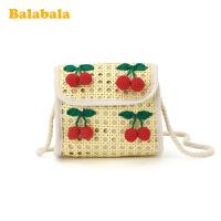 【3件5折价:60】巴拉巴拉女童包包斜挎包时尚包可爱潮小孩儿童森系民族风编织包女夏
