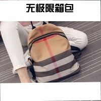 2018新款女包韩版时尚休闲双肩包皮帆布包配包旅行包大书包潮SN8120