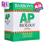 【中商原版】巴朗AP生物学备考卡片(第3版) 英文原版 Barron's AP Biology Flash Cards