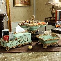 美式茶几水果盘家装创意干果盘家用复古电视柜客厅装饰品摆件
