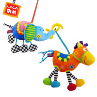 Lalababy/拉拉布书儿童床铃 新生儿玩具宝宝床挂 动物主题 安抚睡眠 挂铃 车床挂